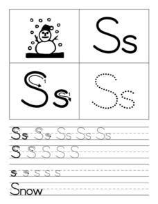 Snowman for Ss Worksheet