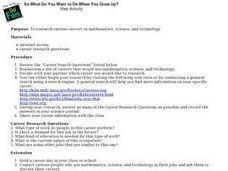 So What Do You Want to Do When You Grow Up Lesson Plan