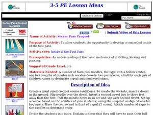 Soccer Pass Croquet Lesson Plan