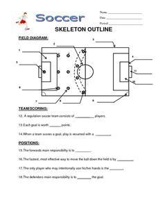 soccer skeleton outline 6th 10th grade worksheet lesson planet. Black Bedroom Furniture Sets. Home Design Ideas