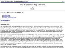 Social Issues Facing Children Lesson Plan