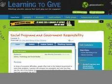 Social Programs and Government Responsibility Lesson Plan