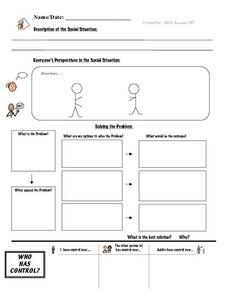 Social Situation Worksheet