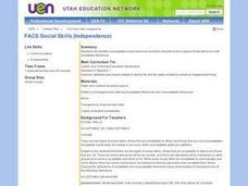 Social Skills (Independence) Lesson Plan