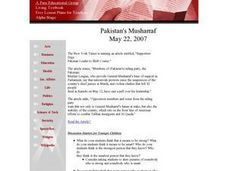 Social Studies: Pakistan's Musharraf Lesson Plan