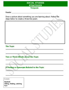 Social Studies Strategies: Terquain Worksheet