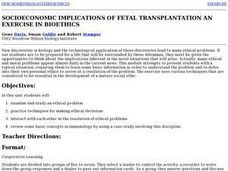 Socioeconomic Implications of Fetal Transplantation An Exercise in Bioethics Lesson Plan