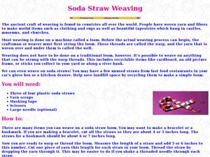 Soda Straw Weaving Lesson Plan