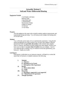 Soil and Water Differential Heating Lesson Plan