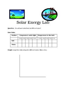 Solar Energy Lab Worksheet