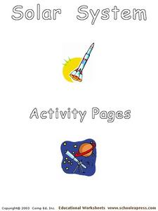 Solar System Activity Pages Worksheet