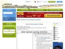 Solar System Learning Activities Lesson Plan