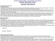 Solar System Unit Lesson Plan