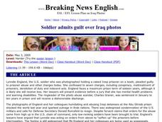 Soldier Admits Guilt Over Iraq Photos Worksheet
