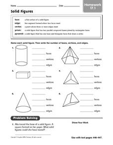 Printables Faces Edges Vertices Worksheet collection of faces edges vertices worksheet bloggakuten