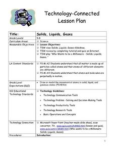 Solids, Liquids, Gases Lesson Plan