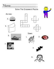 Solve the Crossword Puzzle Worksheet