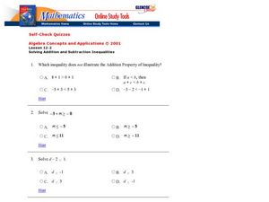 Solving Inequalities Worksheet