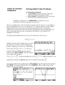 Solving Initial Value Problems Lesson Plan