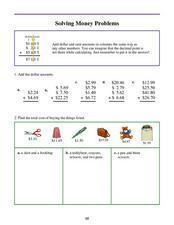 Solving Money Problems Lesson Plan