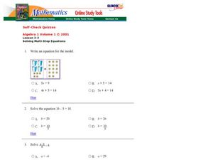 Solving Multi-step Equations Worksheet
