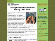 Solving Mummy Mystery Helps History Come Alive Lesson Plan