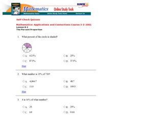 Solving Percent Problems Worksheet