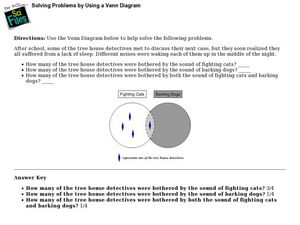 Solving Problems by Using a Venn Diagram Lesson Plan