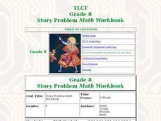 Solving Story Problems Lesson Plan