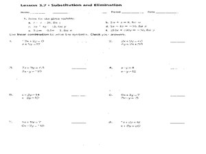 Solving Systems of Linear Equations 9th - 11th Grade Worksheet ...