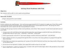 Solving Word Problems with Fish Lesson Plan