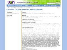 Sometimes The Best Deals Come in Small Packages! Lesson Plan
