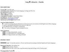 Song Allouette - Oneida Lesson Plan