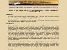 Songs of the Times: American Concerns in 19th Century Campaigns Lesson Plan