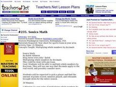 Sonics Math Lesson Plan