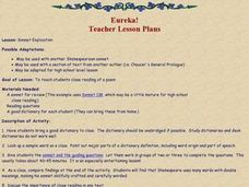 Sonnet Explication Lesson Plan