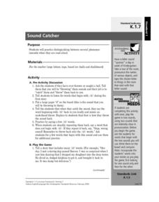 Sound Catcher Lesson Plan