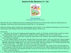 Sound of the Runners, H = /h/ Lesson Plan