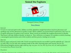 Sound the Foghorn Lesson Plan