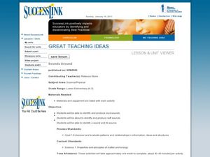 Sounds Around Lesson Plan