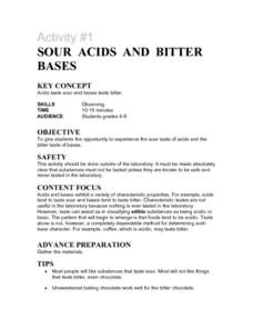 Sour Acids and Bitter Bases Lesson Plan