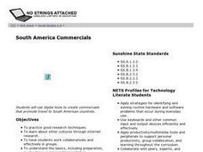 South America Commercials Lesson Plan