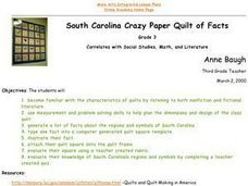 South Carolina Crazy Paper Quilt of Facts Lesson Plan