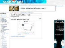 South Carolina State Map Worksheet