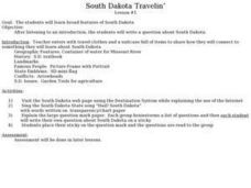 South Dakota Travelin¿¿¿ Lesson Plan