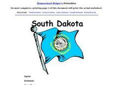 South Dakota Worksheet Worksheet