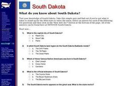 South Dakota Worksheet