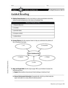 Southeast Asia Worksheet