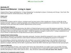 Space and Behavior:  Living in Japan Lesson Plan