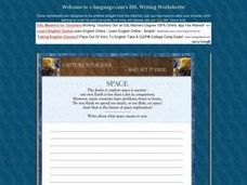 Space Exploration Essay Worksheet